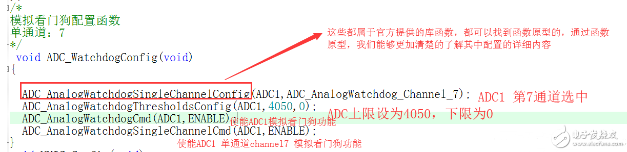 STM32f030c8t6单片机ADC模拟看门狗使用
