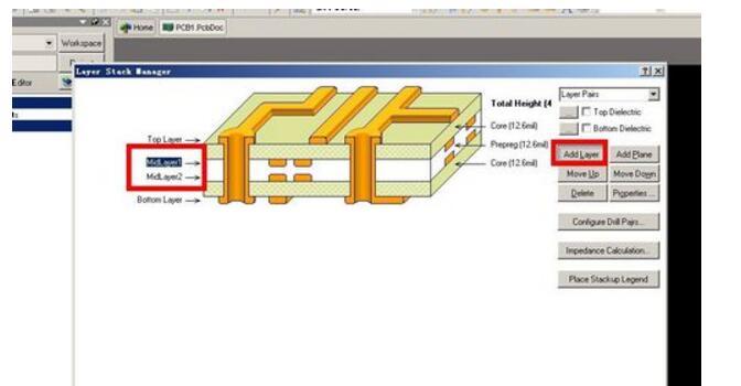 什么是双层电路板_如何画双层和四层的PCB