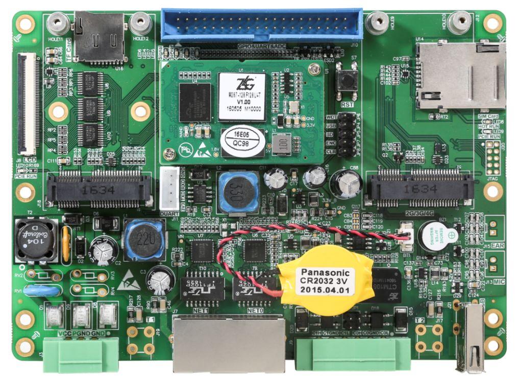 i.MX28x系列无线工李玟阳控板中的IoT-A28LI主板整体布局
