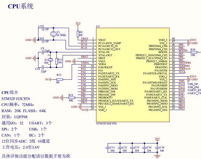 STM32F103设计开发原理图.pdf