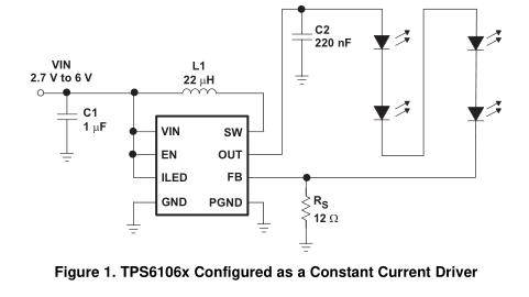 TPS61060调压方式