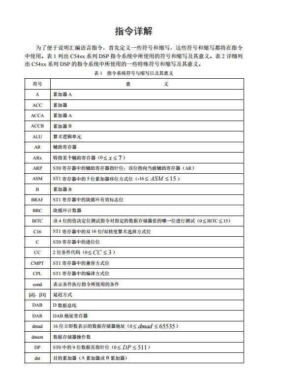 DSP指令详解大全(详细)