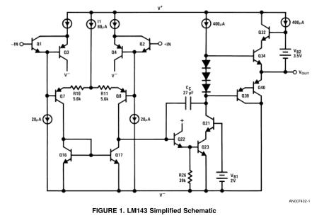 LM143单片高压运算放大器应用笔记