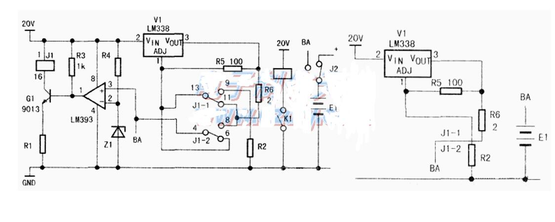 lm393光控电路图大全(蓄电池充电器/电源检测/运算放大器/红外感应)
