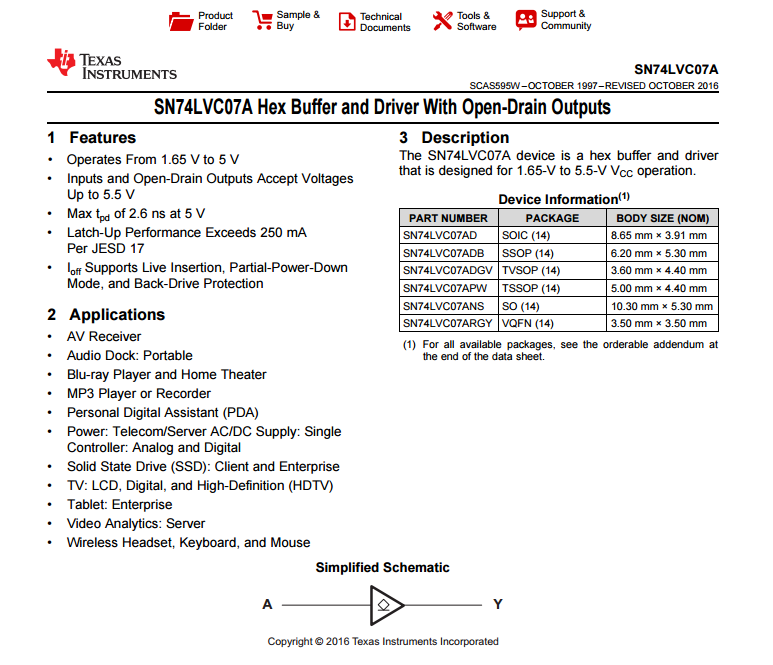 单片机工控常用IC—sn74lvc07a资料下载.pdf