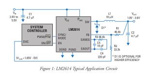 适用于便携式电力应用的超小型降压变换器