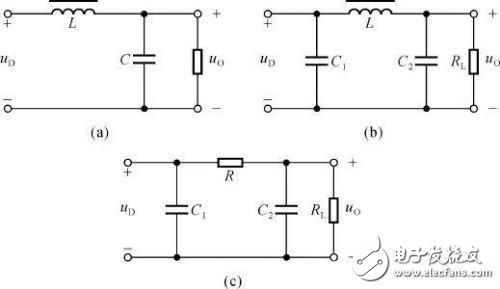常见几款的无源滤波电路