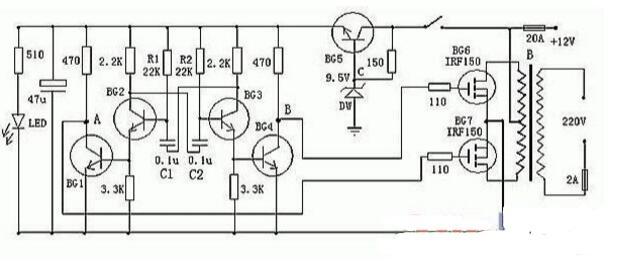 逆变器电路图介绍(TL494/555作逆变器/纯正弦波逆变器电路)