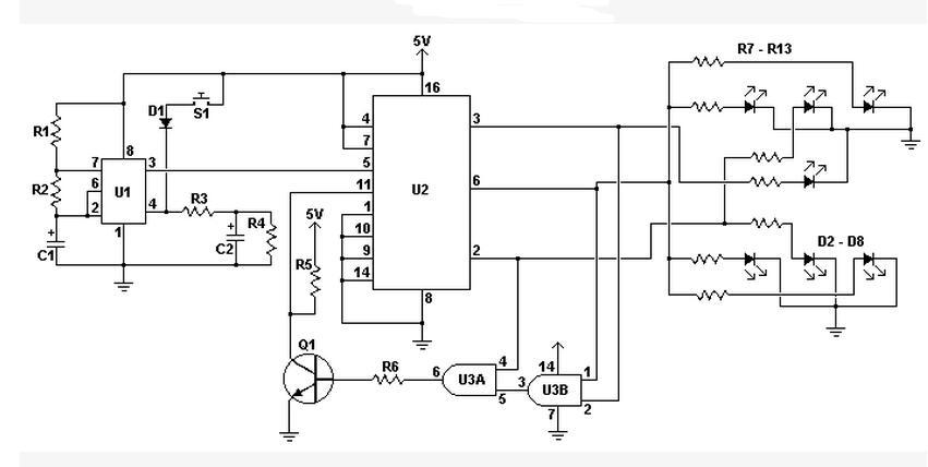 74ls192计数器应用电路图大全(五款电子骰子...
