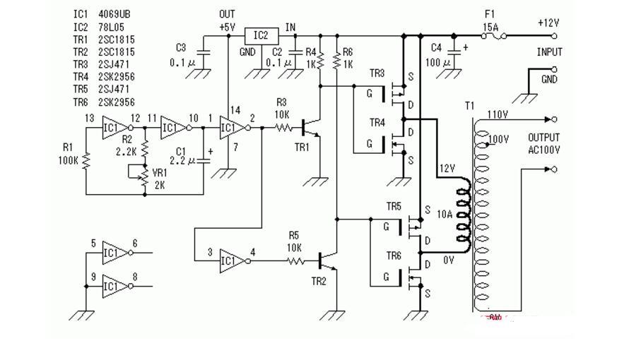 直流变交流逆变器的工作原理及电路分享