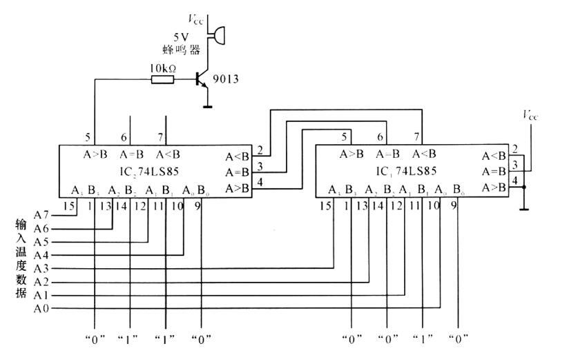 74ls85应用电路图大全(四款温度报警器/延时电路/比较器电路分享)