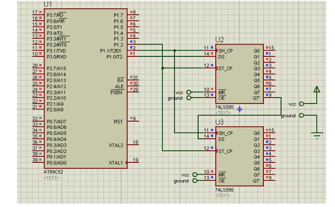 74ls595级联电路及驱动程序分享