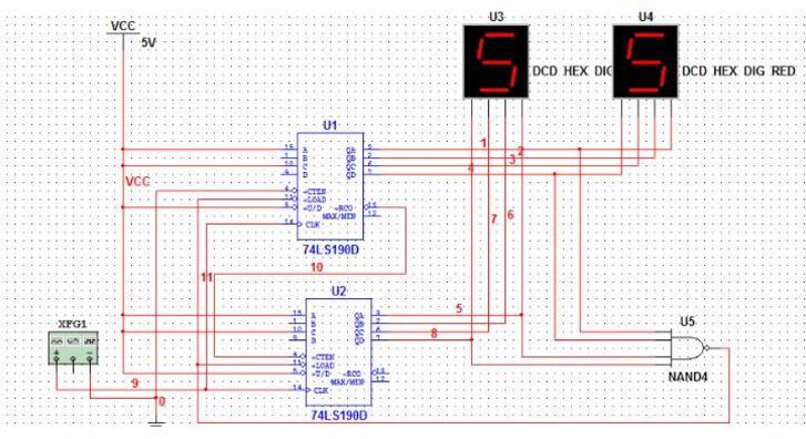 74ls190应用电路图大全(五款74ls190不同进制计数器电路)