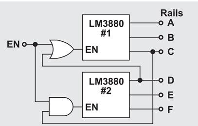 用于3个电源的加电和断电排序
