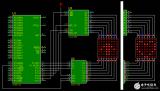 一种用 74hc138 和 74hc595 驱动 8x8 点阵显示技术