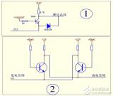 这两个电路可以实现5V与12V的电平双向电压转化