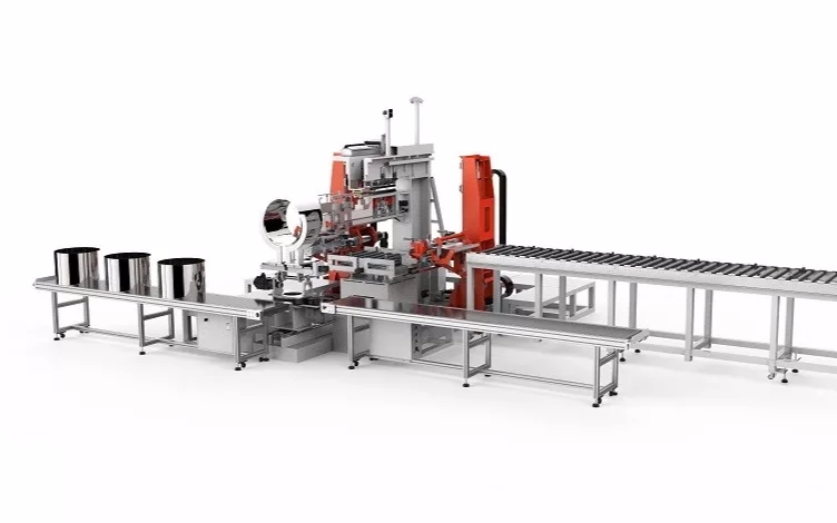大族激光精密焊接事业部自主研发全新一代的滚筒高速自动化焊接系统