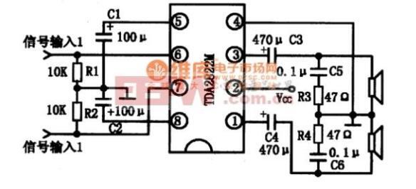 一文看懂tda2822和tda2822m的区别 引脚功能及电路图