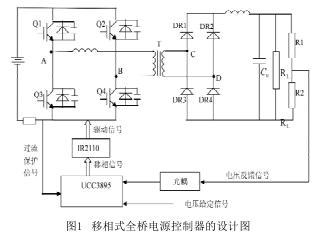移相式全桥电源控制器的设计与Matlab仿真分析
