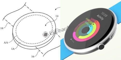 """苹果获""""圆形显示器""""专利,Apple Watch..."""