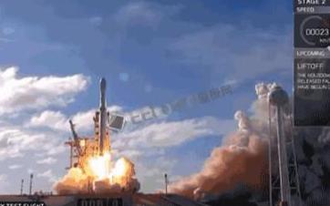 SpaceX猎鹰重型火箭首飞:带着特斯拉跑车去太...