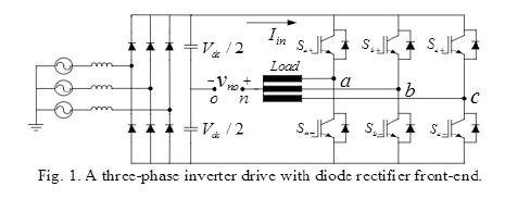 三相PWM降低三相共模电压的方法确定了最优电压矢量及其序列的概述