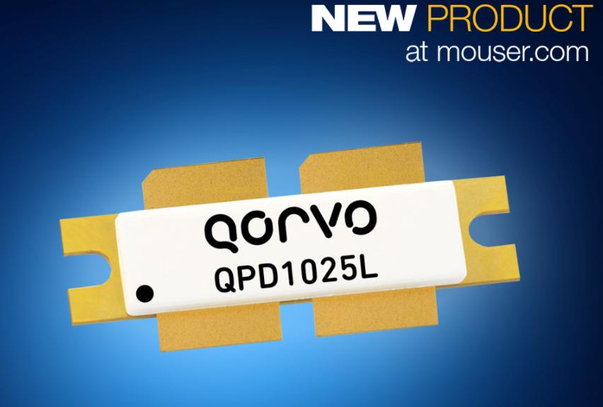 贸泽电子备货Qorvo的QPD1025L碳化硅基...