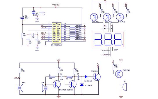最简单的超声波龙8国际下载单片机烧写程序 原理图 PCB图龙8国际下载说明等资料