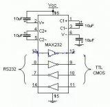 单片机与pc串口通信程序及电路图