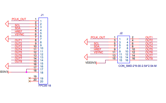 摄像头的转接板引脚图的详细概述