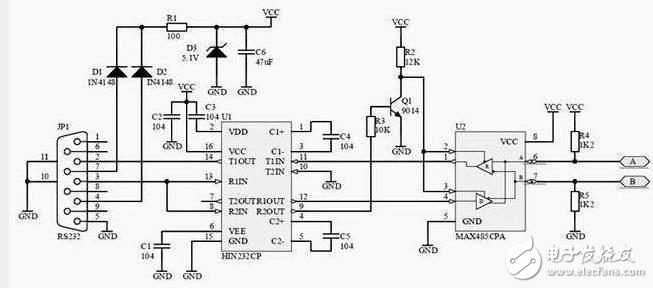 RS485总线标准和接口介绍(标准、两线、四线)