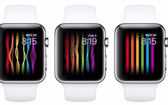 苹果推出Apple Watch的全新彩虹表盘