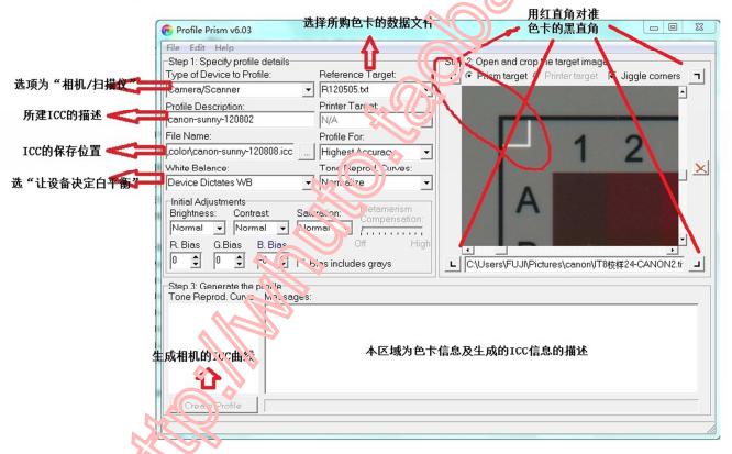 如何使用IT8色卡为单反和数码相机做特定ICC曲线的详细中文资料概述