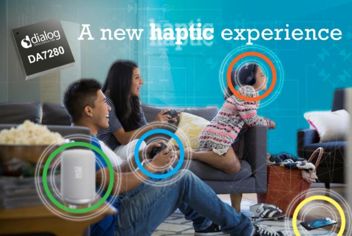 Dialog公司推出超低功耗且紧凑的触觉控制驱动IC,进入迅速增长的触控市场