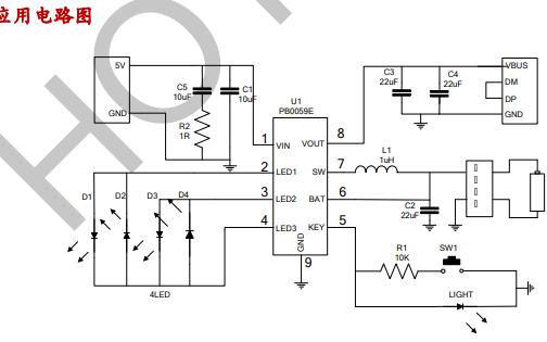 多功能的电源管理SOC PB0059E的详细中文资料概述
