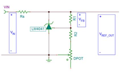 用TPL0102数字电位计充当电压分频器设计