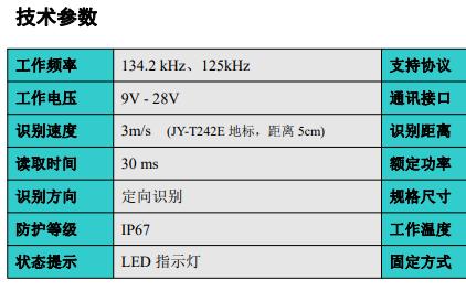 工业级AGV读卡器JY-L8800的详细中文资料概述