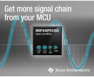 德州仪器 MSP430系列新增多款新型MCU 可适应105°C的工作温度