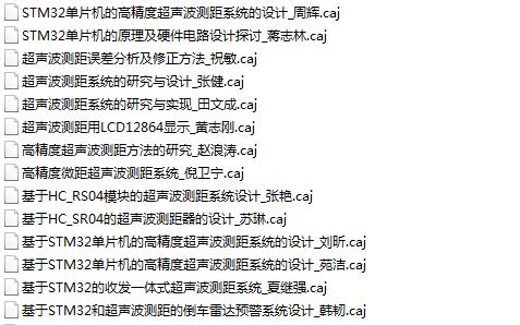 超声波测距的23篇论文的详细资料概述主要是基于单片机的