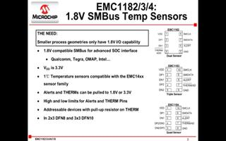 Microchip EMC118x系列温度传感器的简单介绍