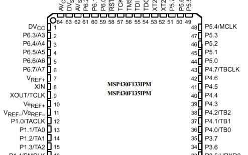 MSP430x13x和MSP430x14x系列芯片的详细资料概述