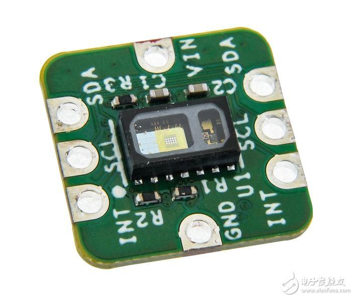 """""""图2:Maxim流行的MAXREFDES117#心率模块参考设计非常的小巧,集成了心率、脉搏、血氧传感器、降压式DC/DC转换器和逻辑电平转换器"""""""