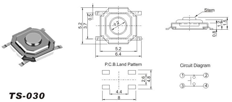 C&K Components推出超长使用寿命SMT轻触开关,是各种高要求应用的理想之选