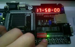 采用FPGA DIY开发板设计数字时钟显示