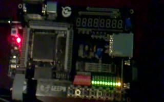 采用FPGA DIY开发板实现11个LED闪烁功能