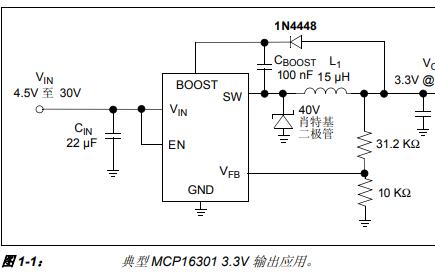 MCP16301高性能低噪声5V降压转换器评估板的详细中文资料概述