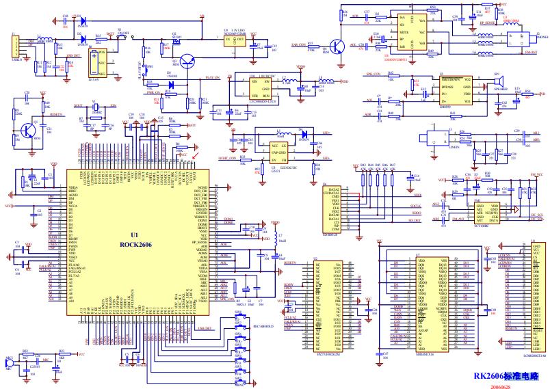 RK2606标准电路的详细电路图免费下载