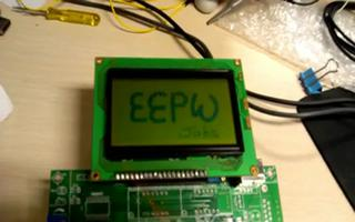 使用RL78/G13的IO模拟并行通讯口驱动LCD12864点阵液晶屏的显示