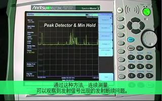 能夠顯示隱藏的發射源的便攜式頻譜分析儀