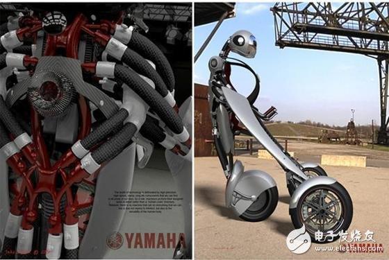 雅马哈设计出一部颠覆性概念交通工具―可穿戴摩托车
